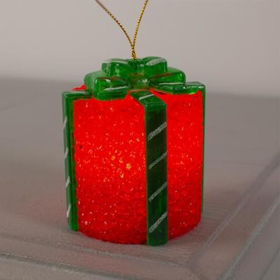 """Игрушка световая """"Подарок"""" (батарейки в комплекте) 7х8.5 см, 1 LED, RGB, КРАСНЫЙ"""