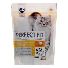 Сухой корм Perfect Fit для чувствительных кошек, индейка, 190 г Ош