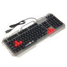 Клавиатура Xtrike Me KB-501, игровая, проводная, подсветка, 104 клавиши, USB, чёрно-серая