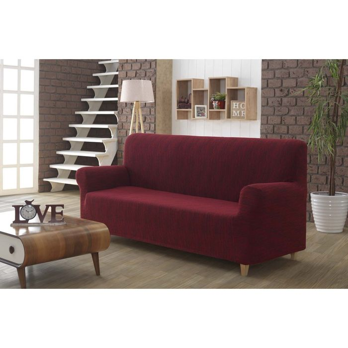 Чехол для 3 - х местного дивана Roma, цвет бордовый