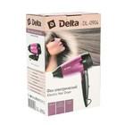Фен DELTA DL-0904, 1400 Вт, 2 скорости, 1 температурный режим, черно-розовый - Фото 6