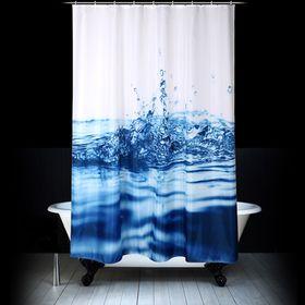 Штора для ванной «Капли», 180 х 200 см