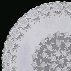 Скатерть «Ажурная» Dia Rose, круг 152 см, цвет белый