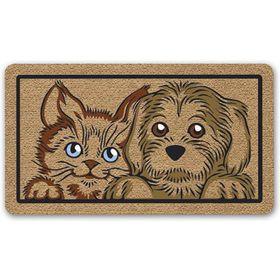Коврик придверный PHP SRL Kokarda «Пёс и кот», 40 х 70 см