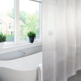 Штора для ванной Meiwa Krackle, 182 х 182 см, цвет прозрачный