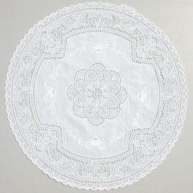 Набор салфеток «Ажурная» Arabesque, d=40 см, рулон 50 шт, цвет белый