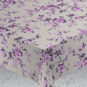 """Скатерть """"ALBA"""" Вальс цветов, круглый 160 см, фиолетовый"""
