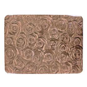 Салфетка на стол «Роза», цвет кофе, 30 х 40 см