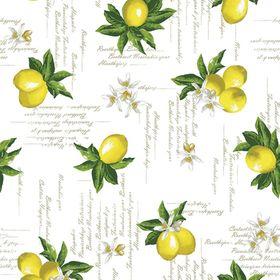 Клеёнка столовая Future «Лимоны», 140 см, рулон 20 пог. м