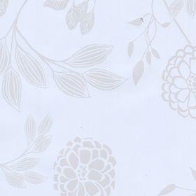 Клеёнка столовая Chic & Charme «Георгины белые », 140 см, рулон 20 пог. м
