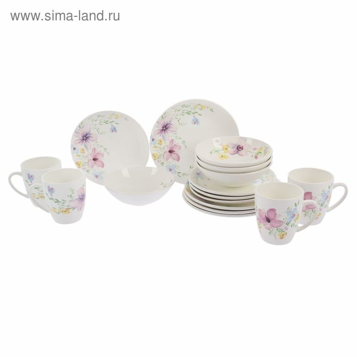"Набор посуды ""Соната. Фрезия"", 16 предметов"