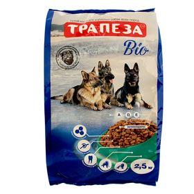 """Сухой корм """"Трапеза"""" БИО для взрослых собак с нормальной активностью, 2,5 кг"""