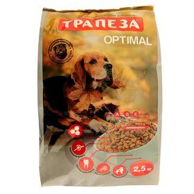"""Сухой корм """"Трапеза"""" ОПТИМАЛЬ для взрослых собак, содержащихся в городских условиях, 2,5 кг"""