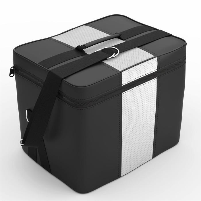 Автомобильная сумка, экокожа, чёрно-белая