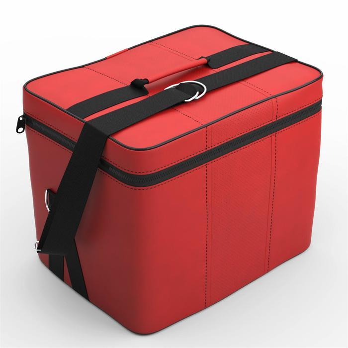 Автомобильная сумка, экокожа, оранжевая