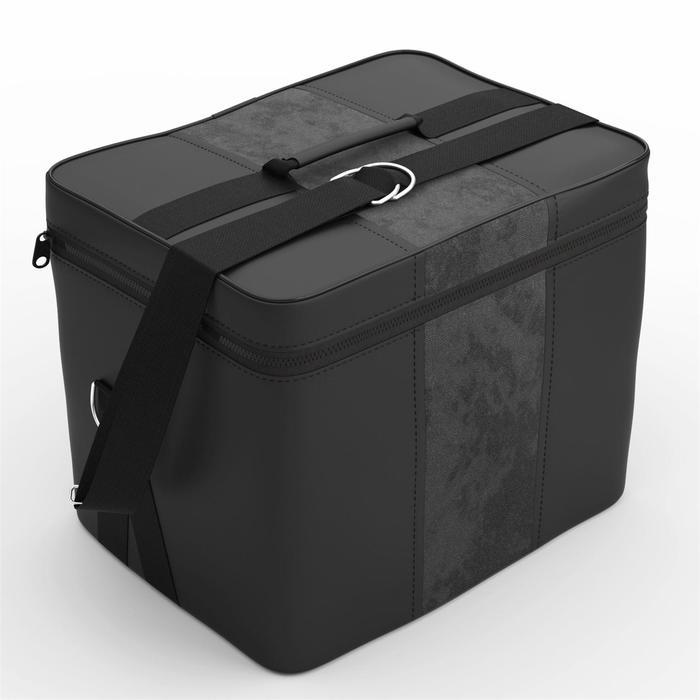 Автомобильная сумка, экокожа, алькантара, чёрно-серая