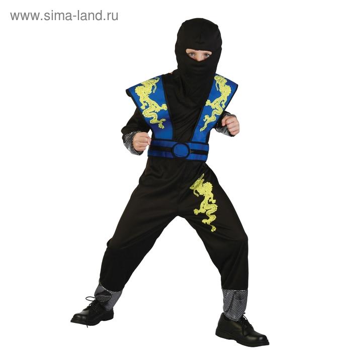 """Карнавальный костюм воин """"Дракон"""", 5 пред: комбинезон, капюшон с маской, доспехи и пояс, размер М 120-130 см"""
