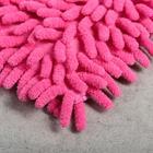 Насадка для плоской швабры «Синель», 43×13 см, микрофибра букли, цвет розовый - Фото 3