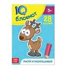 Блокнот IQ «Раскраски»: 28 заданий, 36 стр.
