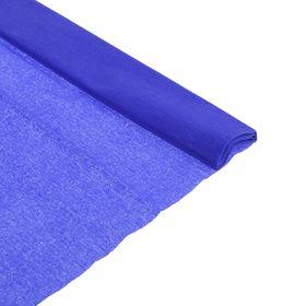 Бумага крепированная 50 х 200 см, плотность - 32 г/м, в рулоне, синий интенсив (80-39) Ош