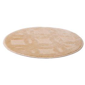 Коврик для ванной «Квадро», d=55 см, бежевый