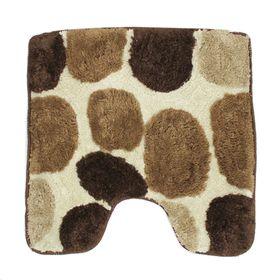 Коврик для ванной «Лора», 55 х 55 см, цвет коричневый