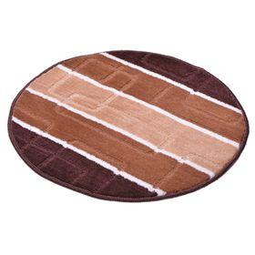 Коврик для ванной «Авангард», d=55 см, коричневый