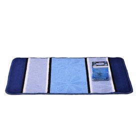 Коврик для ванной «Ромашка», 50 х 80 см, цвет синий