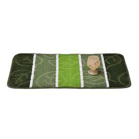 Коврик для ванной «Листопад», 50 х 80 см, цвет зелёный
