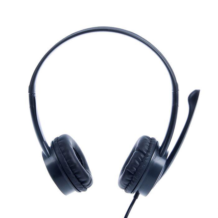 Наушники Trust Mauro, компьютерные, микрофон, 108 дБ, 32 Ом, USB, 2.5 м, черные