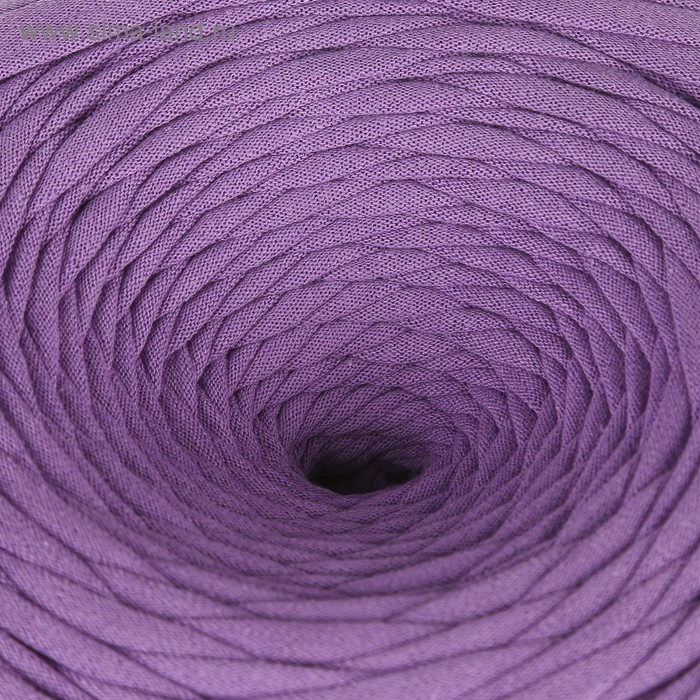 Пряжа трикотажная широкая 100м/320±15гр, ширина нити 7-9 мм (сиреневый)