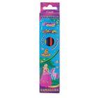 Карандаши, 6 цветов, в картонной коробке, заточенные, пластиковые, шестигранные, «Принцесса»