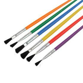 Кисть синтетика, № 2, с цветной ручкой