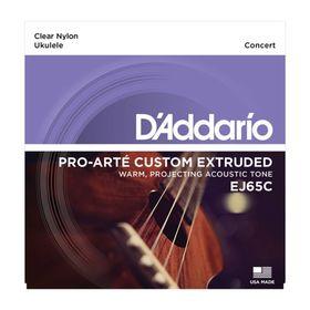 Струны для концертного укулеле D'Addario EJ65C прозрачный нейлон