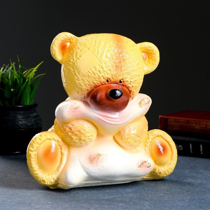 "Копилка ""Медведица с подушкой"" бежевая 20х24х25см МИКС"