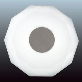 Светильник PIOLA 24W LED белый, никель 36x36x6,8см