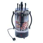 Шашлычница электрическая WILLMARK OC-288, 1000 Вт, 5 шампуров, серебристая