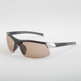 Очки для активного отдыха SPG «Солнце» чёрный/серебряный premium, в чехле SPG с салфеткой