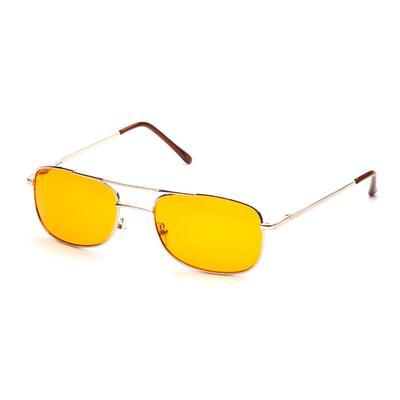 Очки водительские «Антифары», золотой цвет, в комплекте чехол и салфетка