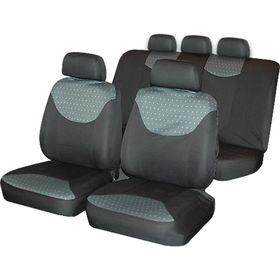 """Авточехлы на сиденья, универсальные """"Bergamo"""", набор 9 предметов, серый/чёрный"""