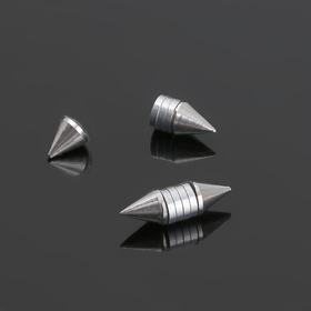 Тоннели обманки 'Шипы' пирсинг, цвет серебро, фас 12 шт Ош