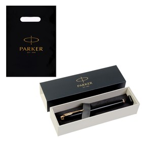 Ручка роллер Parker IM Core Black GT F, корпус чёрный глянцевый/ золотой, чёрные чернила (1931659)