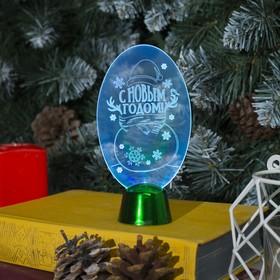 Подставка световая 'Снеговик', 14.5х7.5 см, (батарейки в компл.), 1 LED, RGB микс Ош