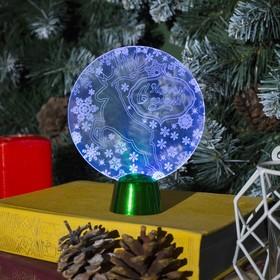 Подставка световая 'Олень', 13.5х11 см, 1 LED, батарейки в комплекте, RGB Ош