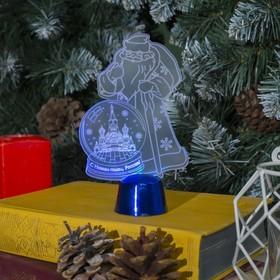 Подставка световая 'Дед Мороз, Москва', 14.5х9 см, 1 LED, батарейки в комплекте, RGB микс Ош