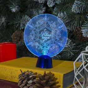 Подставка световая 'Снежинка', 13.5х11 см, 1 LED, батарейки в комплекте, RGB микс Ош