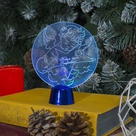 Подставка световая 'Ангел', 13.5х11 см, (батарейки в компл.),1 LED, RGB микс Ош