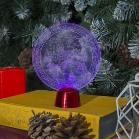 Подставка световая 'Зимний пейзаж', 13.5х11 см, 1 LED, RGB микс Ош