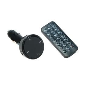 FM - трансмиттер, 12 В, 2 USB/Mp3/WMA/AUX/MicroSD/Bluetooth, микс Ош