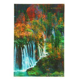 Колледж-Тетрадь А5, 100 листов в клетку 'Пейзаж. Прекрасная осень', твердая обложка, глянцевая ламинация, сшитый блок Ош